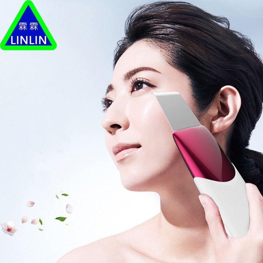 LINLIN Thérapie Par Ultrasons Peau Laveur À Ultrasons Pores Nettoyant Galvanique Ion Spa Beauté Dispositif De Massage Facial Visage Rouleau Visage