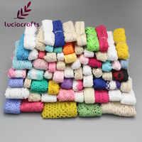 6 jardas/12 jardas cor aleatória tamanho algodão laço guarnição da fita tecido diy costura artesanal retalhos acessórios do casamento n0104