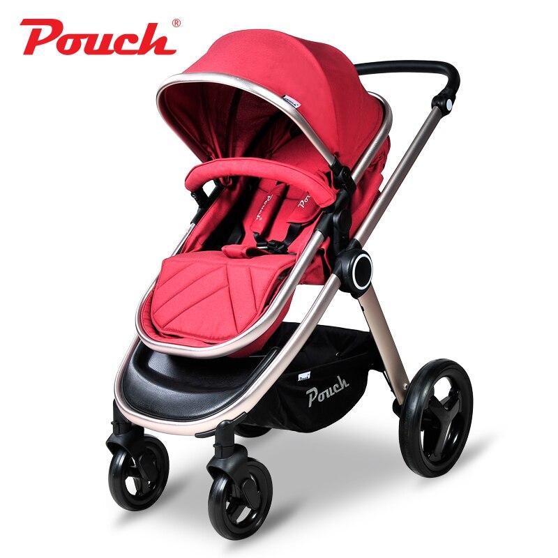 Pochette Adorbaby P70 système de voyage pour enfants poussette haute paysage pour bébé avec sac à provisions landau pliant pour bébé