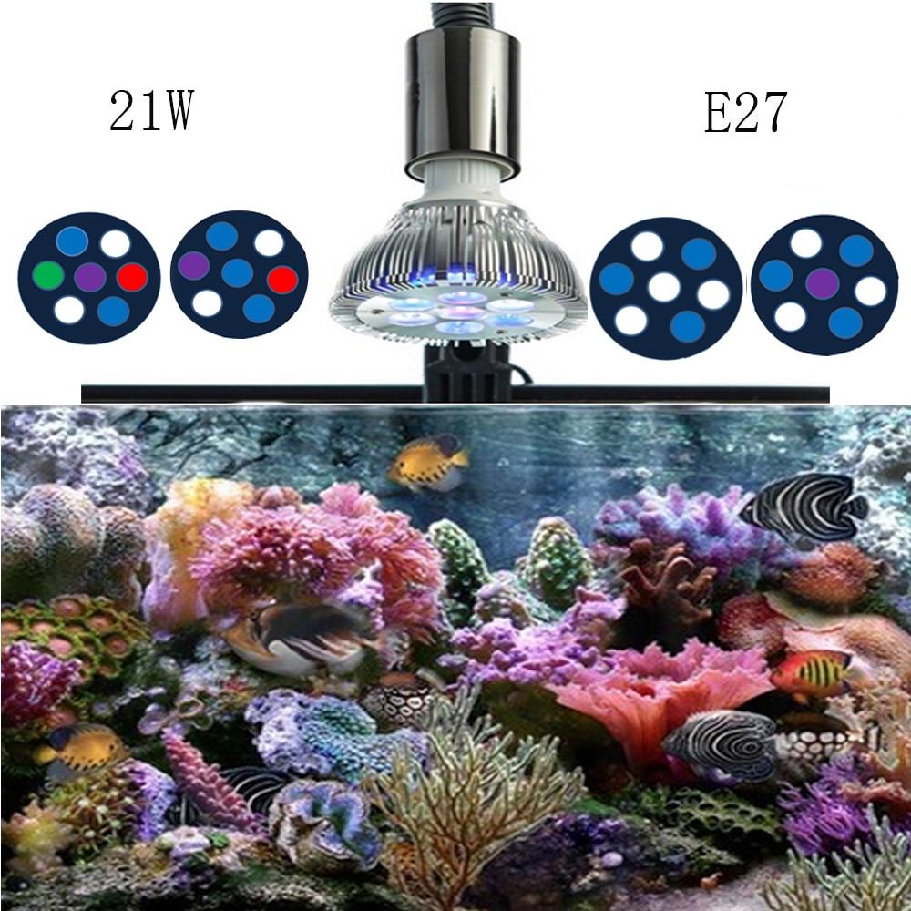 21W Full Spectrum LED Aquarium Light Par38 Coral Reef Used ...