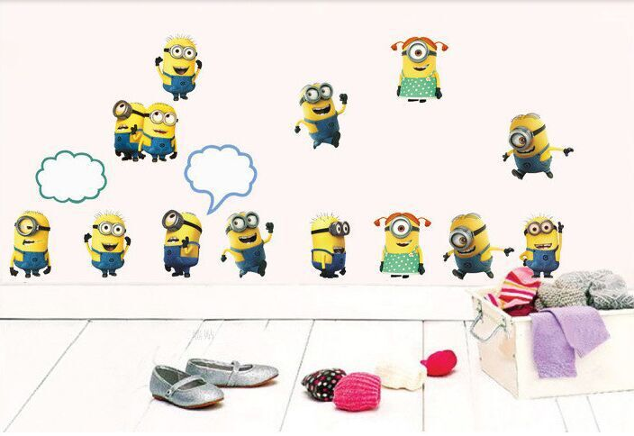 Online Shop Cartoon Despicable ME 2 Wall Switch Stickers Vinyl Art Mural  Decal Minions Removable 3D WALL DECALS Stickers Kids Room Decor |  Aliexpress Mobile