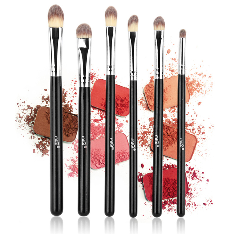 MSQ 6pcs Eye shadow Makeup Brushes Set Professional Eye Brush Eye Shadow Blending Make Up Brush Soft Artificial Fiber Brush g073 professional makeup brush goat hair ebony handle make up eye shadow smudge brushes cosmetic tool eye shadow blending brush
