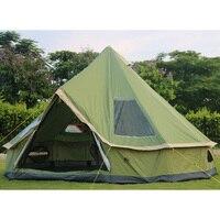 Ультратонкая 5 8 человек использование водостойкая ветрозащитная Пирамида кемпинговая палатка большая беседка Barraca Tienda De Acampar
