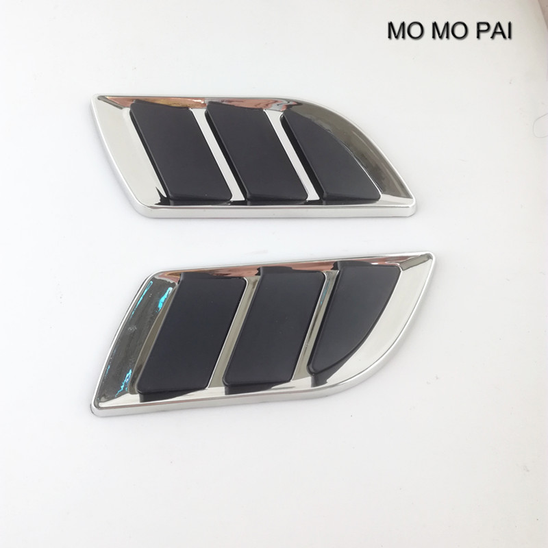2 Pcs car styling auto Hood Fender Decorative Air Flow Intake Scoop Bonnet Vent Cover decorative stickers Universal MO MO PAI куртка quelle reima 1011358