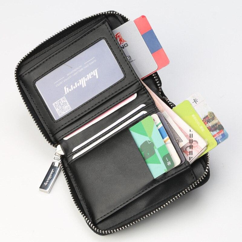 Pocket Wallet Men Purse Short-Style Business Female Fashion Bank-Card Multi-Function