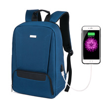 fashion trend USB Mens and Womens Backpacks Simple Travel Bags College Students School Versatile Business