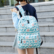 Bear backpack bag female waterproof composite backpack no logo student Korean version of the new backpack