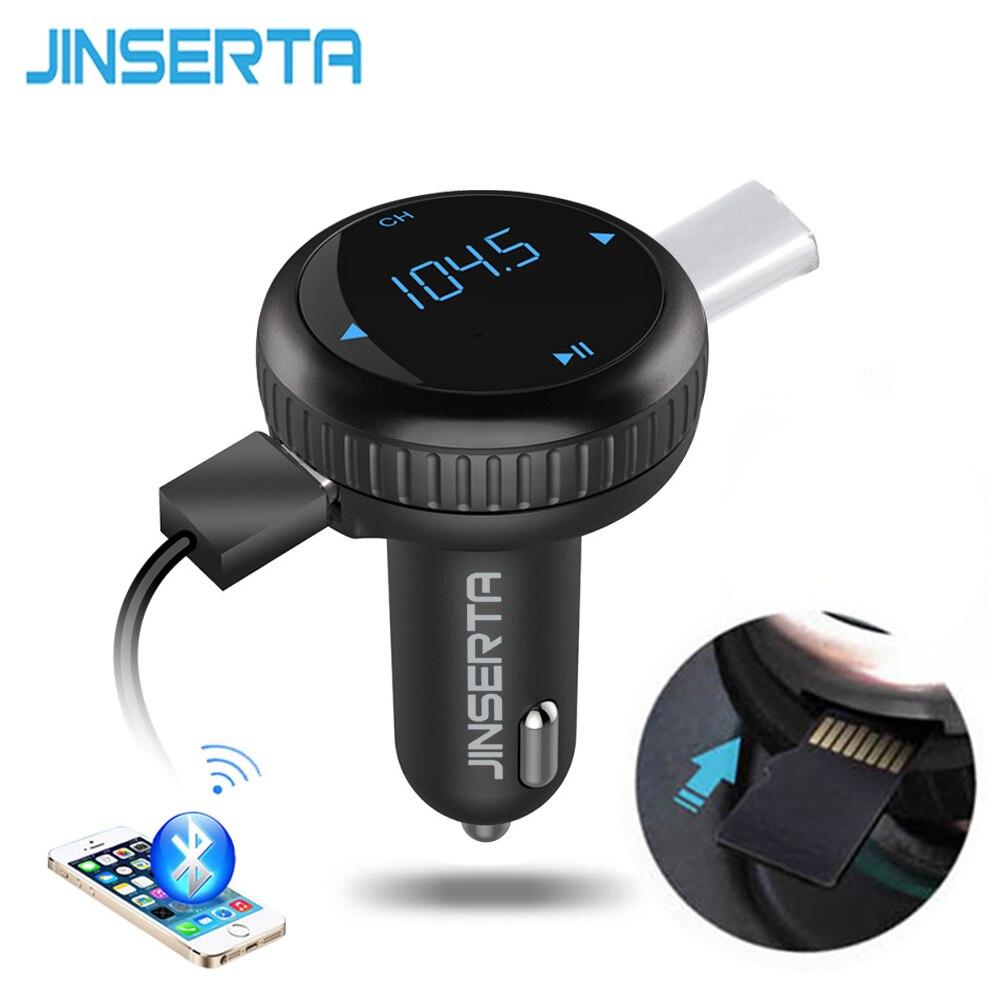 Prix pour 2017 Voiture MP3 Audio Lecteur Bluetooth Transmetteur FM Sans Fil Modulateur De Voiture Kit Mains Libres 2 USB Port w/TF Slot