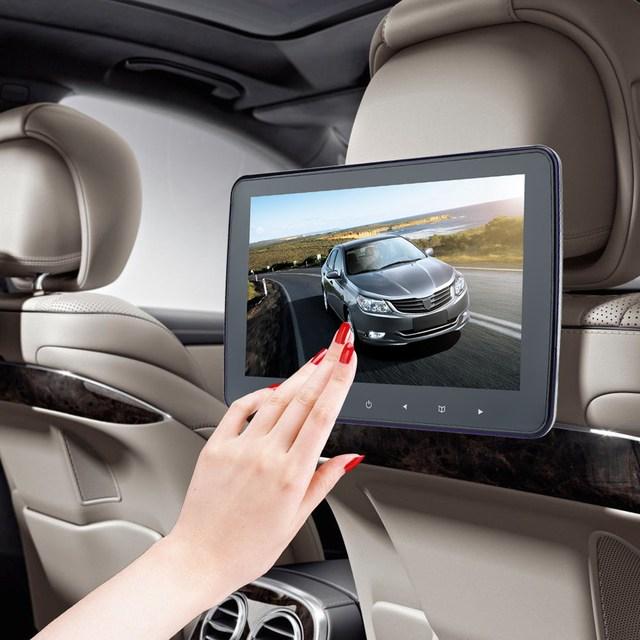 """10 """"Botão de Toque de TFT LCD Do Carro da Tela Digital HD Monitor de Encosto de cabeça DVD Player MP4 MP5 Player 32 Bit IR/FM Jogo Remoto controle"""