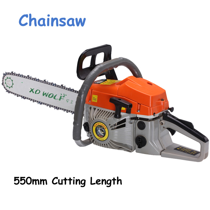Chainsaw Gasoline Chain Saw 2-Stroke Air-cooling 50CC 20'' 2.2KW 550mm Cutting Length Gasoline Chain Saw wood cutter chain saw heavy duty gasoline chainsaw 2 stroke 58cc gas chain saw 3000rpm max 10000 rpm eu plug for garden tool
