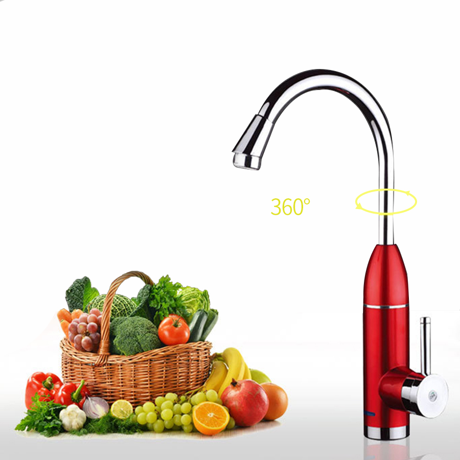 Electric Faucet Instant Water Heater Electric Kitchen LED Tankless Hot and Cold Water Heater Tap For