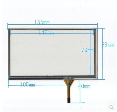 155mm*89mm new 6.2 inch navigation touch screen 155* 89