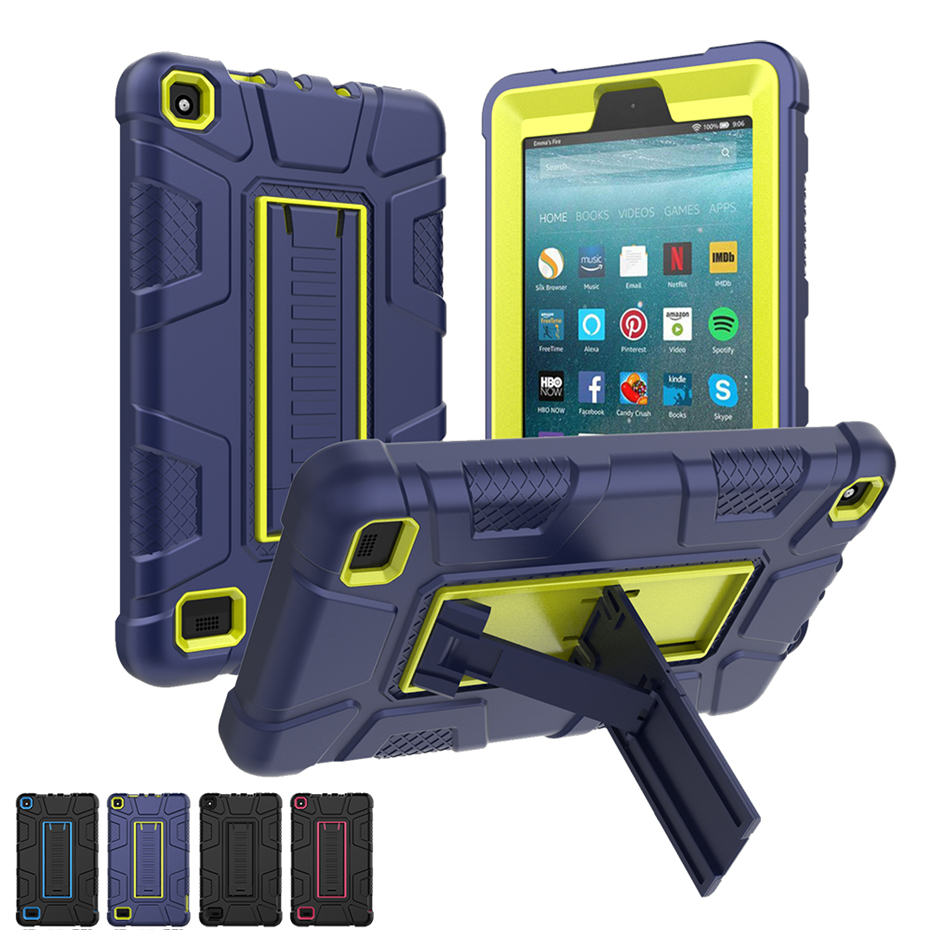 Tablet Case Fire Amazon Kindle Protective-Cover Shockproof For Dual-Layer Hybrid All-New