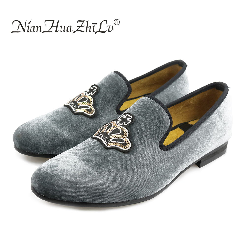 Handmade Men Leather Dress Shoes Prom Loafers Slippers Banquet Flats With Bowtie