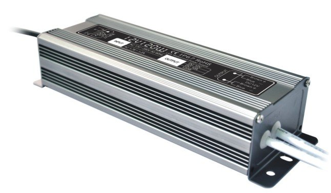 24V120W LED Waterproof IP67 Power supply, Constant Voltage,90V-130V or 170V-250VAC optional kvp 24200 td 24v 200w triac dimmable constant voltage led driver ac90 130v ac170 265v input
