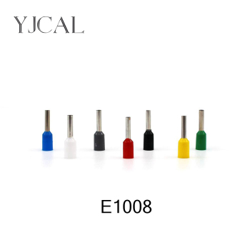 1000pcs/Pack E1008 Insulated Cord End Terminal Crimp Terminal  Wire Connector Crimp Ferrules Crimping Terminals Tubular 50pcs crimping type non insulated pipe bare terminal connector for 18awg wire page 3