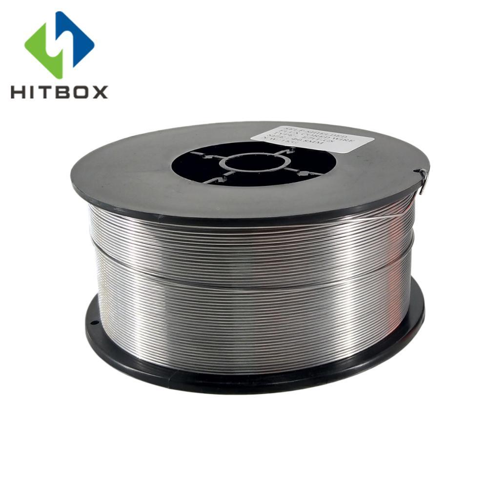 HITBOX Flux Core Wire Self-shielded No Gas Mig Wire 1kg Iron Welding 0.8mm Carbon Steel Flux Core Wire Mig Welding Gasless Wire Сварка