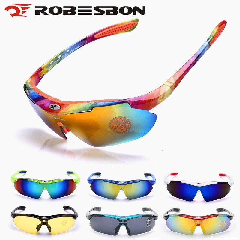 ROBESBON Road MTB Cycling Bicycle Bike Glasses Eyewear Sunglasses Outdoor Sports Goggle UV400 Sunglasses Eyewear gafas ciclismo