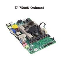 Desktop материнская плата ITX Intel Core i7 7500U 2,70 ГГц встроенный процессор ITX мини DDR3 mSATA SATA мини PCI-e плата Origial