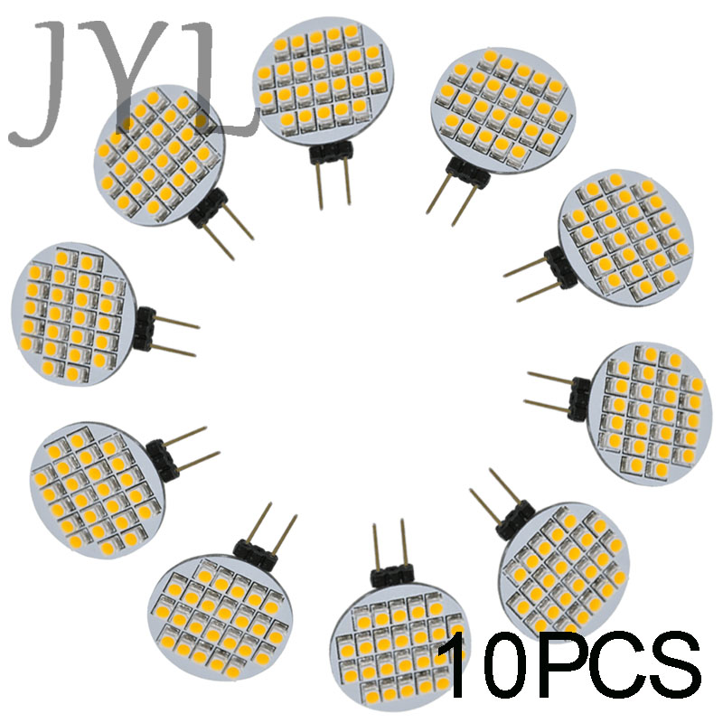 JYL High Power 10pcs 24 LED 3528 SMD G4 LED Lamp Spot Light Bulbs Lighting DC/AC 12V 1W 156-168LM Room Cabinet Marine Camper