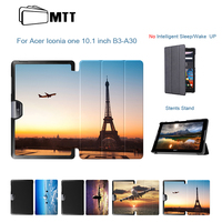 MTT Fashion Painted Airplane PU Leather Stand Cover For Acer Iconia One 10 B3 A30 Case