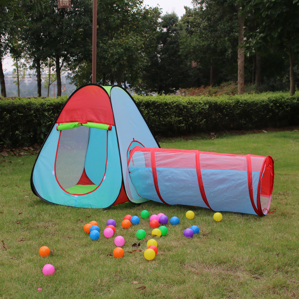 3 In1 Portable Kids Children Toy Tent Playhouse Indoor Outdoor Foldable Pop Up Tent Tunnel Set Play Gaming Toys Garden Playhouse portable foldable pop up tunnel basketball tent