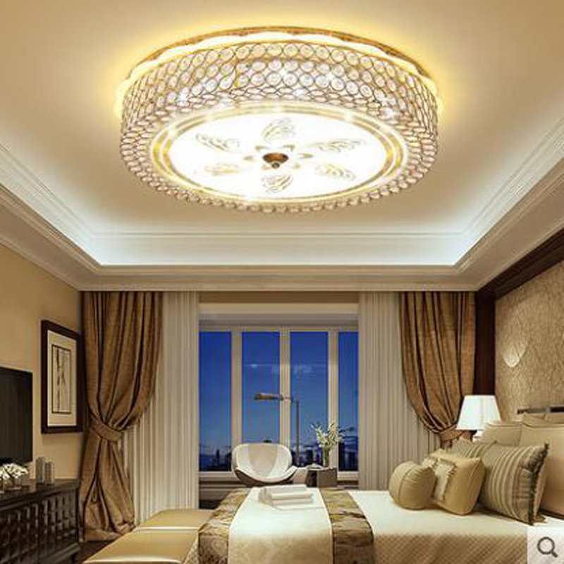 Simple modern bedroom lights romantic romantic ceiling lamp crystal lamp round restaurant lights study room living room lamps modern brief fashion round ball crystal lamp pendant lamp restaurant lamp bedroom lamp living room lights
