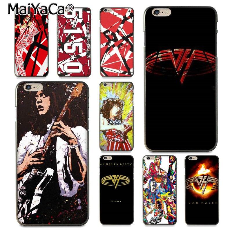 756f9865dd3 MaiYaCa Eddie Van Halen Graphic Guitar Multi Colors Luxury phone case for  iPhone 8 7 6 6S Plus X 10 5 5S SE 5C Coque Shell