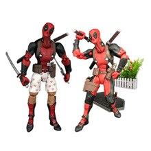 2 Styles/set X Men Super Hero Deadpool Action Figure PVC Figurine Collectible Model Christmas Gift Toy For Kids недорого