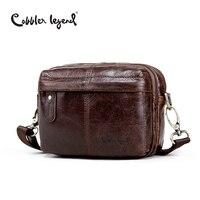 Cobbler Legend Fashion Brand Designer Men's Genuine Leather Messenger Shoulder Cross-Body Bag For Men Travel Bags