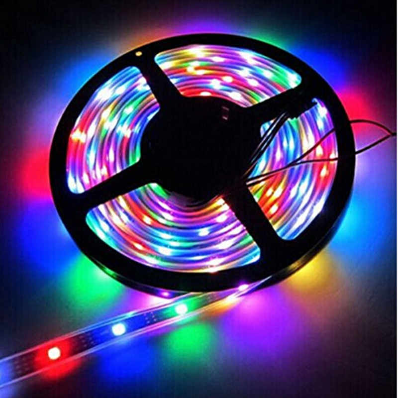 1 M/5 M WS2812B IC Pintar Pixel LED Strip Light 30/60/144 LED/M IP30 IP65 IP67 Tahan Air Hitam/Putih PCB DC 5V LED RGB Strip