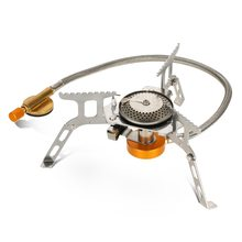 лучшая цена Split Type Mini Foldable Portable Stainless Steel Gas Stove Furnace Butane Propane Stove for Outdoor Cooking Camping