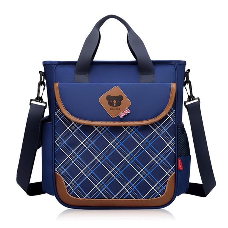 Girls and Boys Practical messenger Bag Waterproof handbags for purpils Fashinal British Wind Tote Bag Shoulder strap detachable