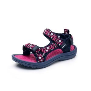Image 3 - Apakowa Girls 여름 오픈 토우 후크 앤 루프 비치 워킹 스포츠 샌들 아동 워셔블 퀵 드라이 슬링 백 워터 샌들 신발