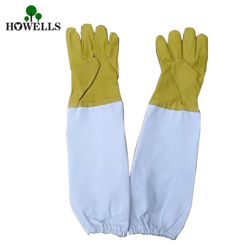 5 pc gants de protection apicole gants anti-abeilles gants jaunes enfant ruche italienne Anti-abeille Anti-piqûre apiculture gants spéciaux