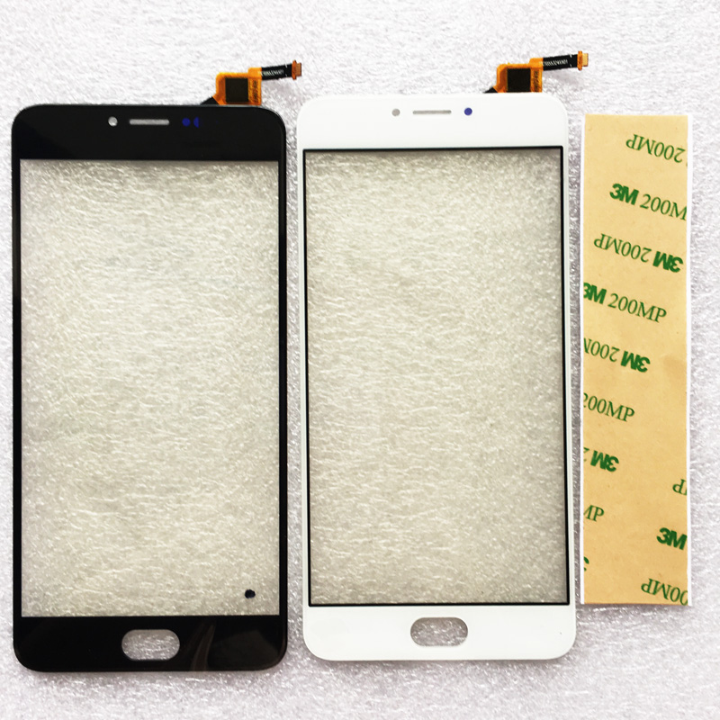 Front Glass For Meizu M3 Note L681H Touch Screen Digitizer Touch Panel Glass Len Replacement Parts Black/White New