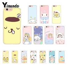 Yinuoda Sanrio pom pom purin lovely cartoon girl Pattern Phone Case for iPhone 8 7 6 6S Plus 5 5S SE XR X XS MAX 10 Coque Shell 30cmx27cm new the pudding dog plush toys pom pom purin soft toys stuffed doll toy movice cartoon pom pom purin gift for children