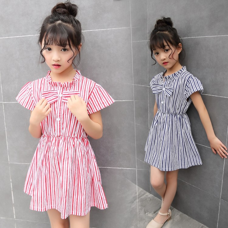 Подробнее о summer 3-11 years old girls striped Dress child clothing children clothes baby bowknot dress kids girls princess dresses baby girls dresses brand princess dress girl clothes kids dresses children costumes 3 14 years old