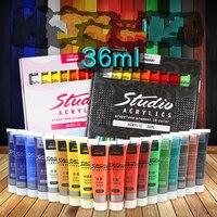 Бесплатная доставка акриловая краска 18 цветов костюм текстильное волокно пигмент настенная роспись, не отваливается, водостойкая картина