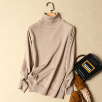 turtleneck women sweater 2019 winter new loose all match knitted female pullovers thicken warm long sleeved lady tops