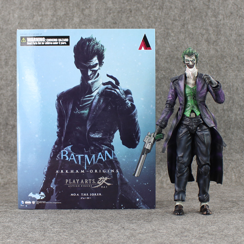 ФОТО Play Arts KAI Batman Arkham Origins NO.4 The Joker PVC Action Figure Collectible Toy 26cm