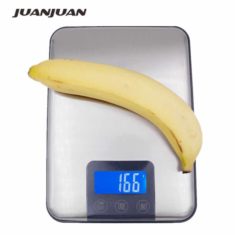 Tela sensível ao toque 15 kg 15000g 1g de aço inoxidável magro lcd digital cozinha dieta comida balança postal peso equilíbrio 43% de desconto