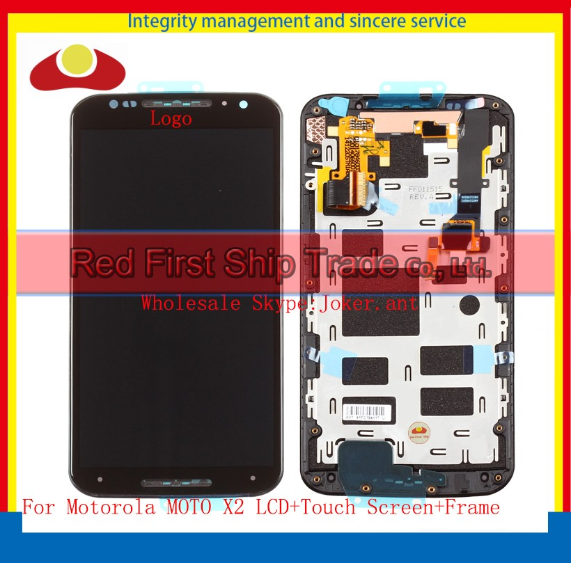10Pcs/lot DHL EMS 5.2 For Motorola MOTO X2 XT1092 XT1095 XT1096 XT1097 Lcd Display Touch Screen Digitizer Assembly With Frame 2016 sale rushed 10pcs free dhl ems for motorola moto xt1254 touch digitizer lcd display 100