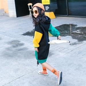 Image 5 - 새로운 히트 컬러 코튼 겨울 따뜻한 스웨터 여자 플러스 벨벳 십대 소녀 후드 두꺼운 아이 티셔츠 어린이 의류