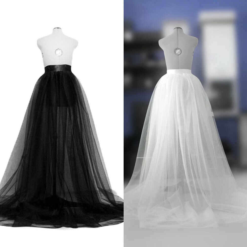 Women Lady A-line Tutu Mesh Long Maxi Skirts 2019 New Formal Party Wedding Prom Tulle Long Skirts One Size