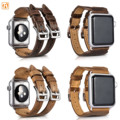 ICARER Retro Cowhide Leather Watchband for Apple Watch Series 2 Genuine Strap Double Buckle Cuff Band for iWatch 1st 2nd 42/38