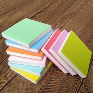 Image 2 - 5*5cm plac grawerowanie gumka znaczek dla majsterkowiczów 10 sztuk/partia kolorowe 3 warstwy dobrej jakości szkolne i biurowe