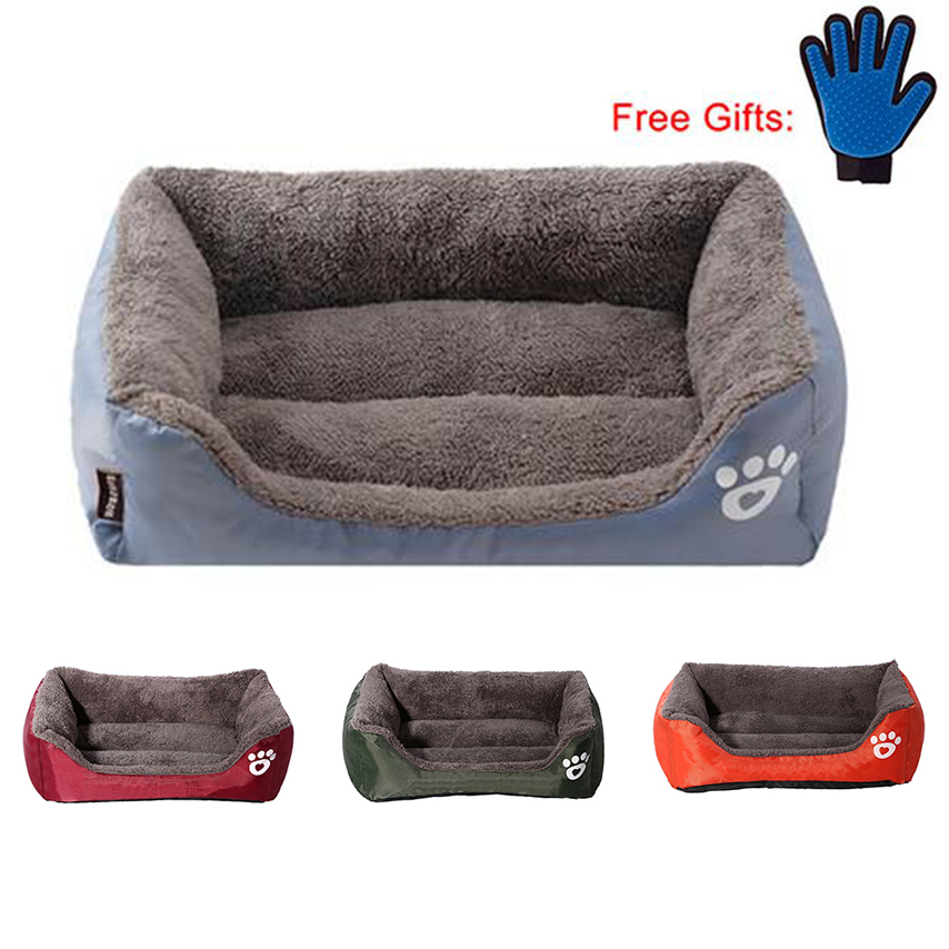 Pet Dog Bed Warming Dog House Soft Material Pet Nest Dog Fall And Winter Warm Nest Kennel For Cat Puppy With Free Gift Gloves