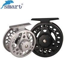 цена на Smart 75mm 85mm Fly Fishing Reel 2+1 Ball Bearing Aluminum Alloy Left/Right Hand Carretilha De Pesca Vissen Fly Fishing Wheel