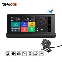 Dealcoo 7' Touch Screen Car DVR Recorder Camera Android ADAS 4G WIFI Dual Lens 1080P Full HD GPS Navigation Free Maps Dash Cam
